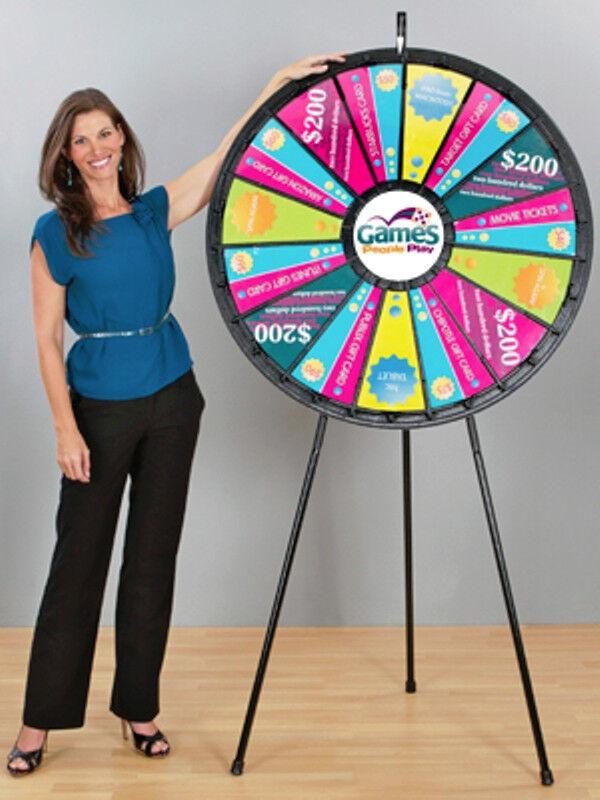 15 - 30 Slot Black 40 Inch Big Prize Wheel