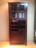 Indonesian teak liquor cabinet/ wine cabinet- excellent cond