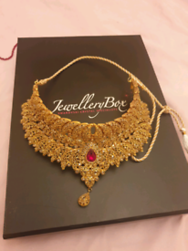 Red and Gold Bridal jewellery set