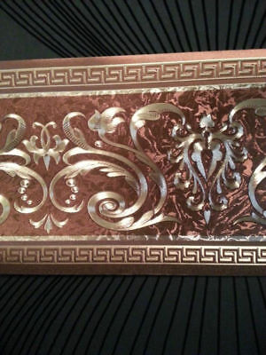 wunderschöne Barock Bordüre GRÜN 5m lang 17,7 cm breit
