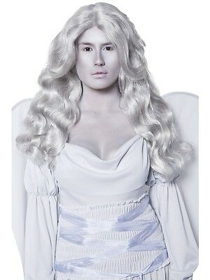 Cemetery Angel Halloween Costume (Cemetery Angel Wig Grey - Halloween Grey Wig - Ladies Fancy)