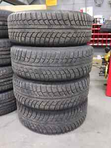 Set of P215 65r16 Gislaved Winter Tires and Steel Wheels