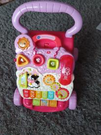 V tech first steps baby musical walker