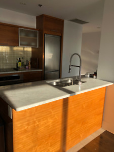 Kitchen marble counter and sink