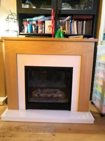 Be Modern Blakemere Oak effect Electric Fire Suite faulty