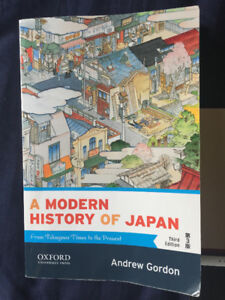 "Selling ""Modern History of Japan: From Tokugawa Times-Present"""