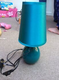 Turquoise bedside table lamp
