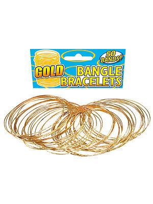 Egyptian Arabian Style Gold Bangle Bracelets Belly Dancer Fancy Dress Jewellery