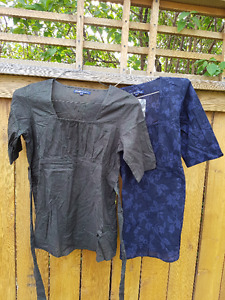 Two Size XS Thyme Maternity Cotton Blouses