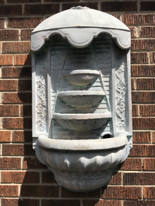 WALL MOUNTED - STONE WATER FOUNTAIN, WITH PUMP