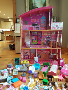 Large assortment of Barbie toys