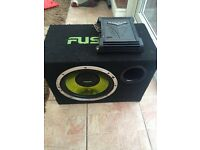 Fusin sub with kicker amp n Sony radio