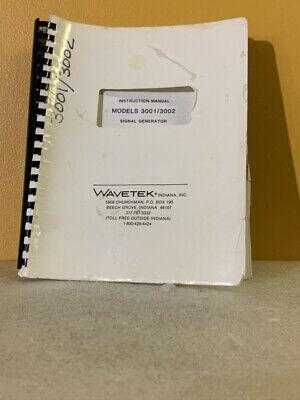 Wavetek Models 30013002 Signal Generator Instruction Manual