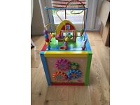 Toddler 5 in 1 wooden activity centre