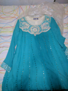 Pre loved teal Pakistani dress