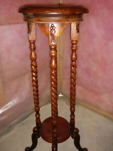 Solid Mahogony Wood Plant Stand