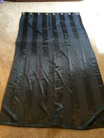 Set of 2 black stripped curtains