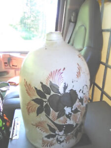 Rare St John, New Brunswick 3 Gallon Folk Art Painted Jug