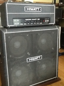 Hiwatt dr103 and matching 4x12 cab