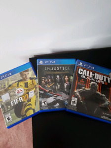 3 Ps4 games  for sale ***best offer *** will get it!