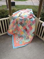 Pretty Patchwork Quilt - Great for Christmas