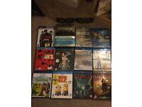 Blu-Ray DVDs + 2x 3D films & 2x 3D glasses