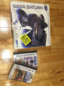 SEGA SATURN, GENESIS II CONSOLES, CONTROLLERS AND GAMES USED