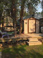 Lot with 2015 31 ft trailer at Moyie Lake BC