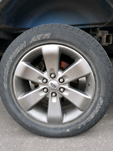 "Pirelli Scorpion Tires + 20"" F150 stock rims"