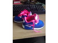 Brand new Nike air max trainers. Infant Size 4.5 blue pink and white