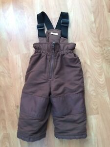 Joe Fresh size 1T brown snowpant - good condition