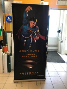 Superman Roll Up Banner