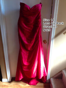 Red Strapless Gown - worn twice - Excellent condition