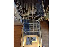 Indesit slimline black dishwasher for sale.