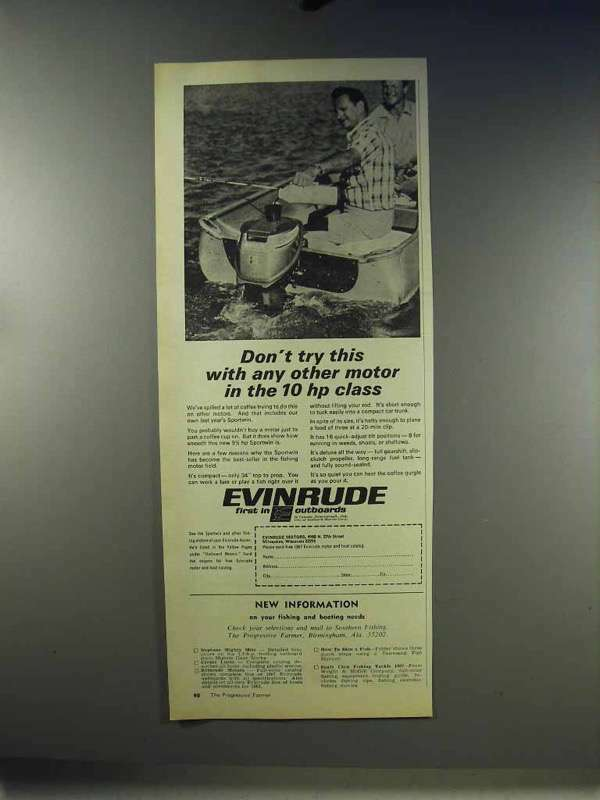 1967 Evinrude Outboard Motor Ad - Don