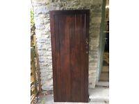 Wooden Ledge and brace interior door