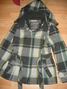 Esprit Plaid Wool Coat - Size 14
