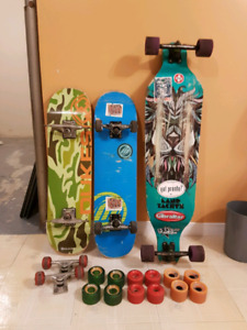Skateboards and longboard
