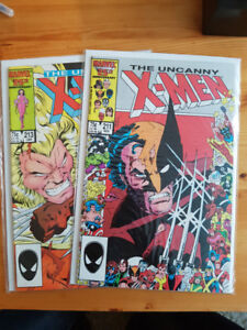 Uncanny x-men 211 et 213 Marvel comic