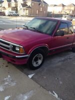 S 10 extended cab pick up truck