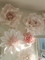 Stunning Wedding or Baby Shower Hand Made Custom Flowers