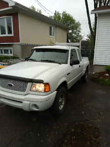 2003 Ford Ranger White Pickup Truck