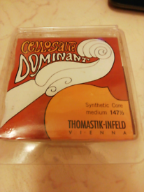 Cello Dominant Synthetic Core Medium Strings 1/2 Size for sale  Ely, Cambridgeshire