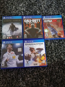PS4 Games for sale. All MINT condition.
