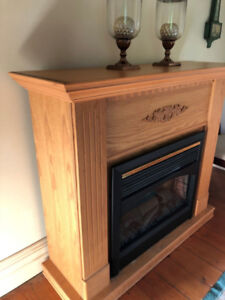 Fireplace electric Solid Oak and Veneer