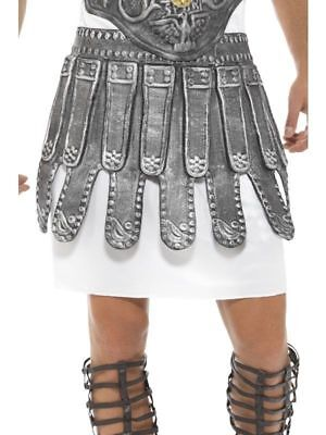 Römische Kriegerin Gladiator Rüstung Rock Grau Eva Kostüm Verkleidung Zubehör ()