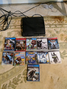 PS3 with 9 games. Playstation
