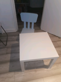 Ikea Lack side table and kids chair