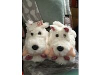 Scottie slippers