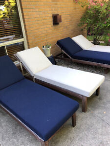 IKEA Applaro Chaise with TERRA Sunbrella Fabric Cushions